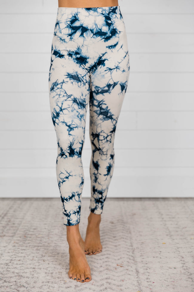 Jumping For Joy Tie Dye Navy Leggings