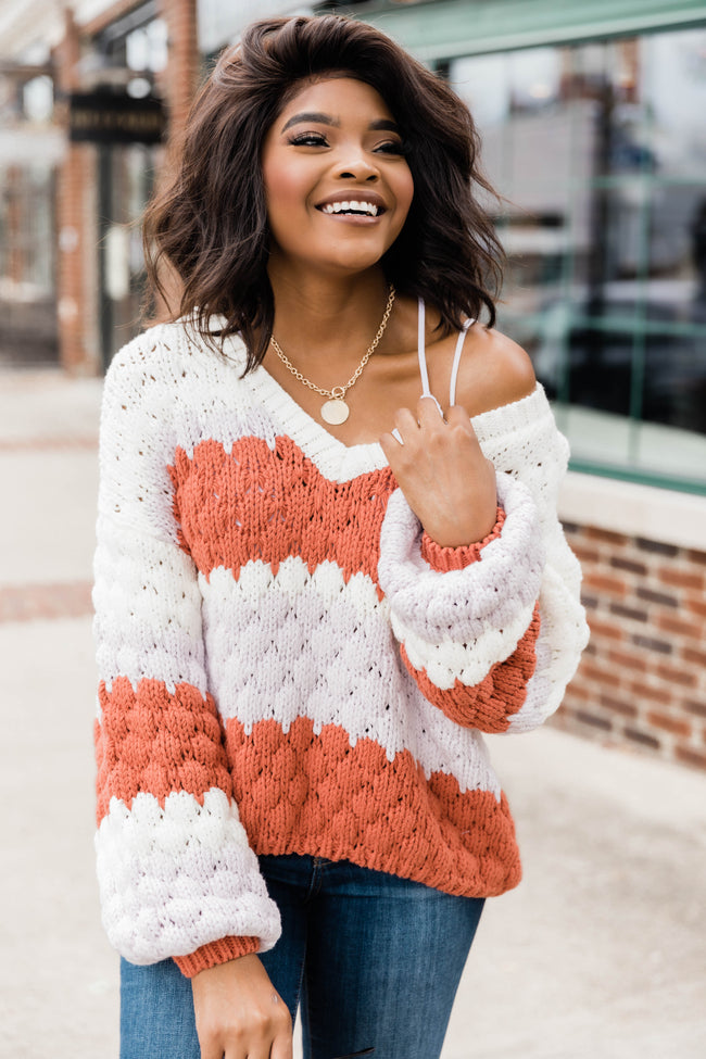 Better Than That Chunky Cropped Sweater Rust FINAL SALE