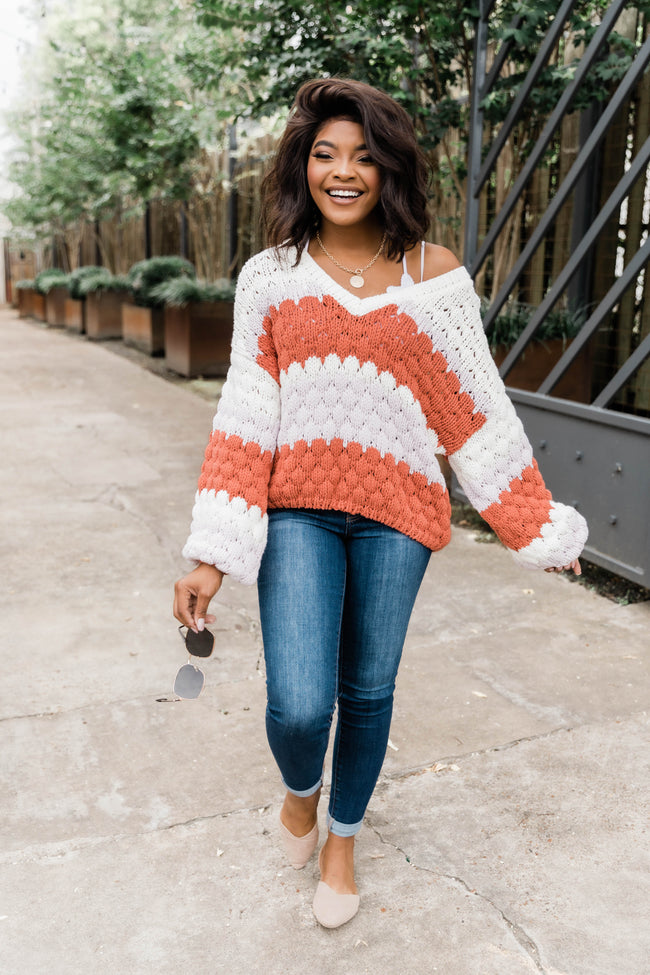 Better Than That Chunky Cropped Sweater Rust