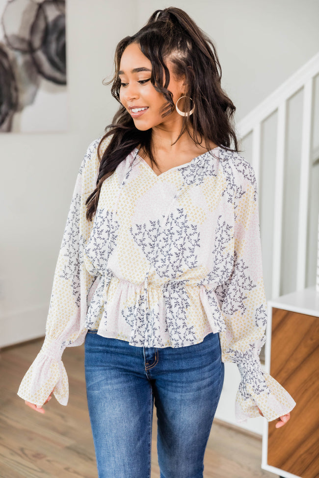 A Peaceful Place Floral Printed Blouse