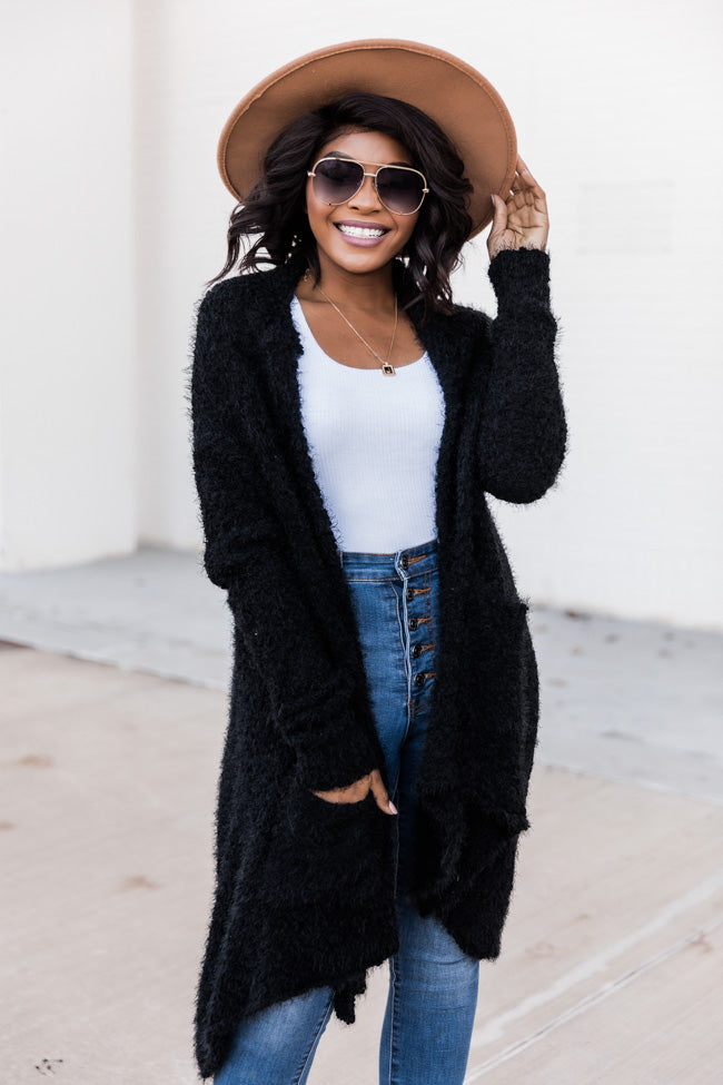 Heart Set On You Popcorn Black Cardigan DOORBUSTER