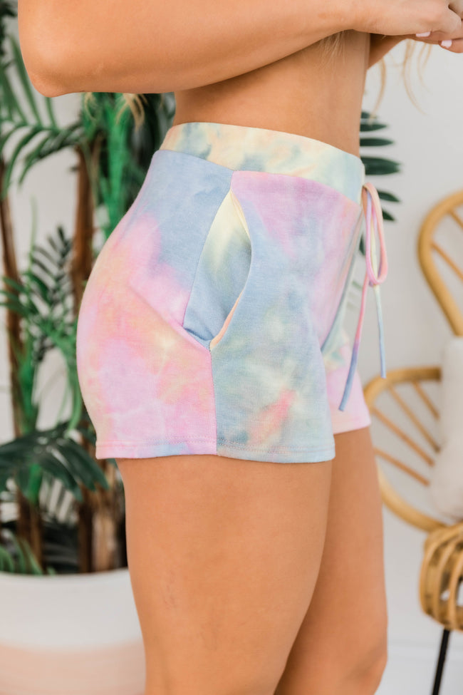 Time Stood Still Tie Dye Shorts Multi CLEARANCE