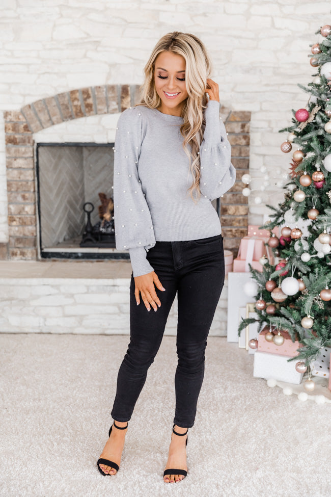 Unspoken Dream Pearl Grey Sweater