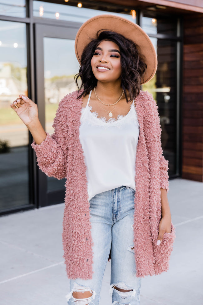 Ambitious Ideas Rose Cardigan