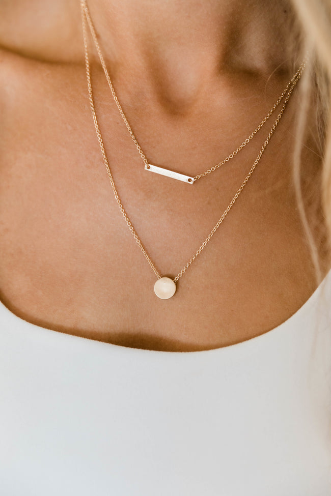 Optimistic Love Layered Necklace Gold