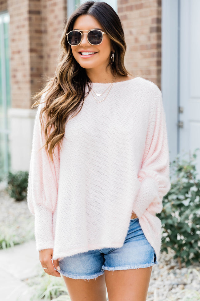 Make Your Life Easy Balloon Sleeve Pullover Pink