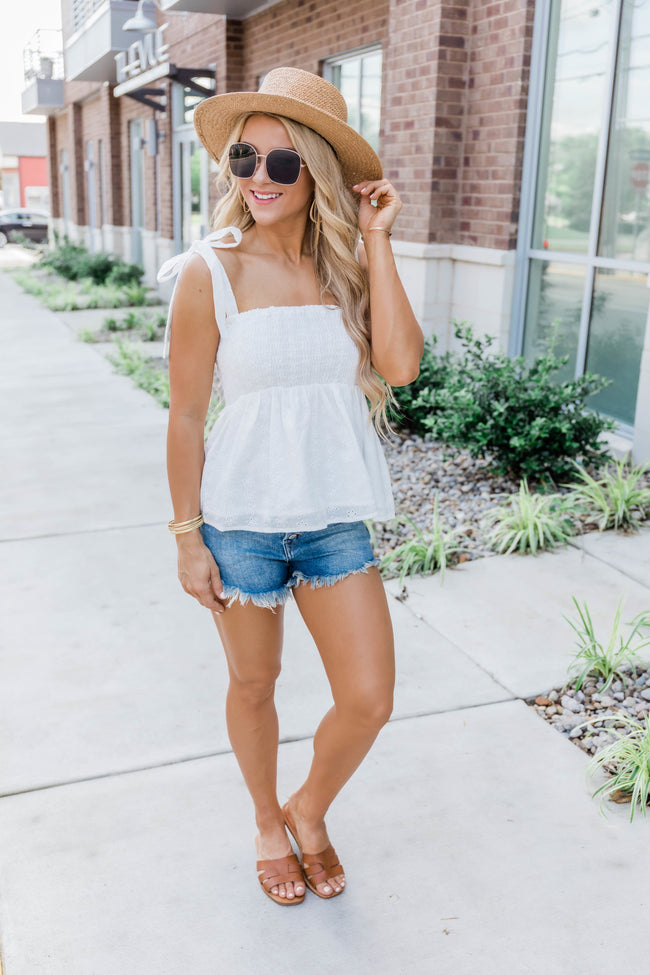 A Faithful Love White Lace Tank