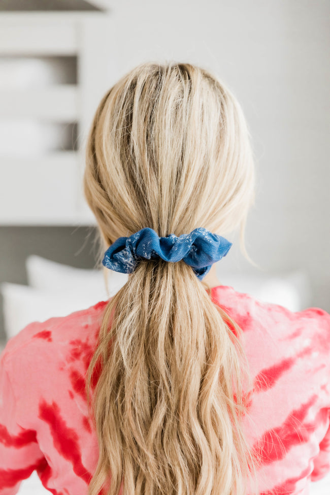 Sweet Love Floral Chambray Scrunchie