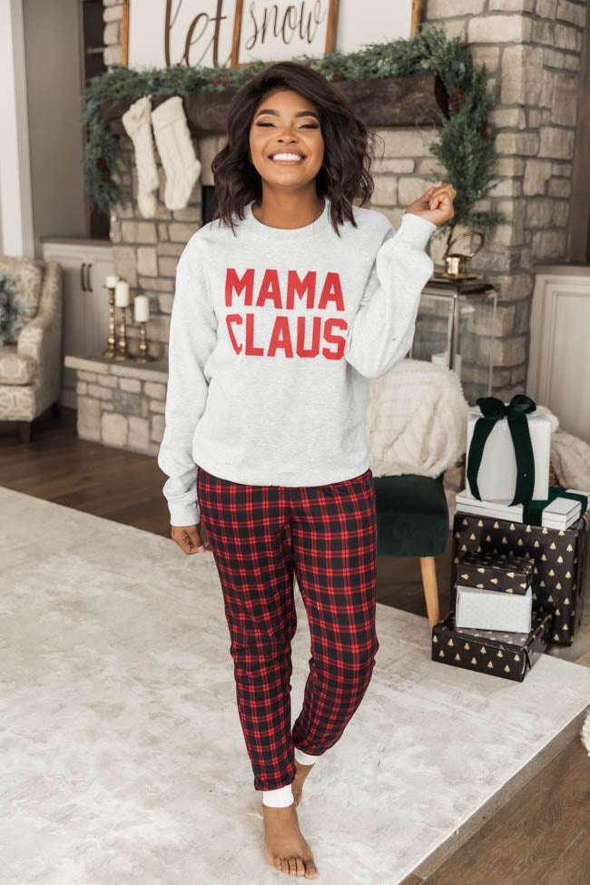Mama Claus Graphic Ash Sweatshirt