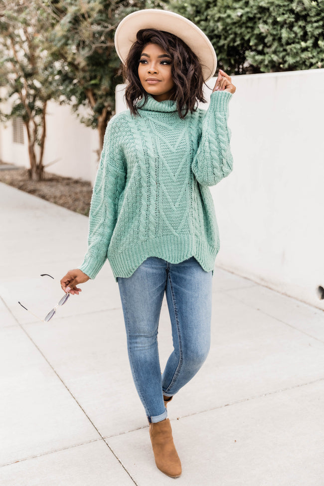 Just One Love Sage Sweater