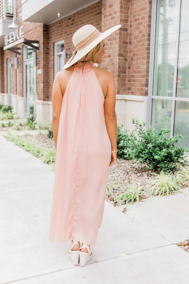 A Lady Like You Maxi Dress Peach