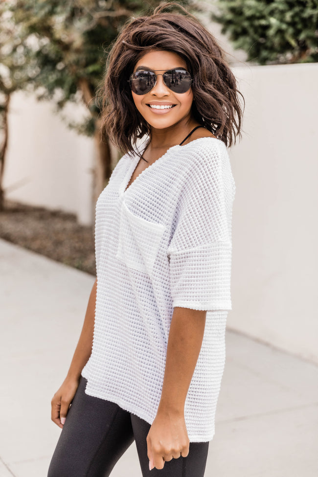 Know She's Wonderful Blouse Ivory