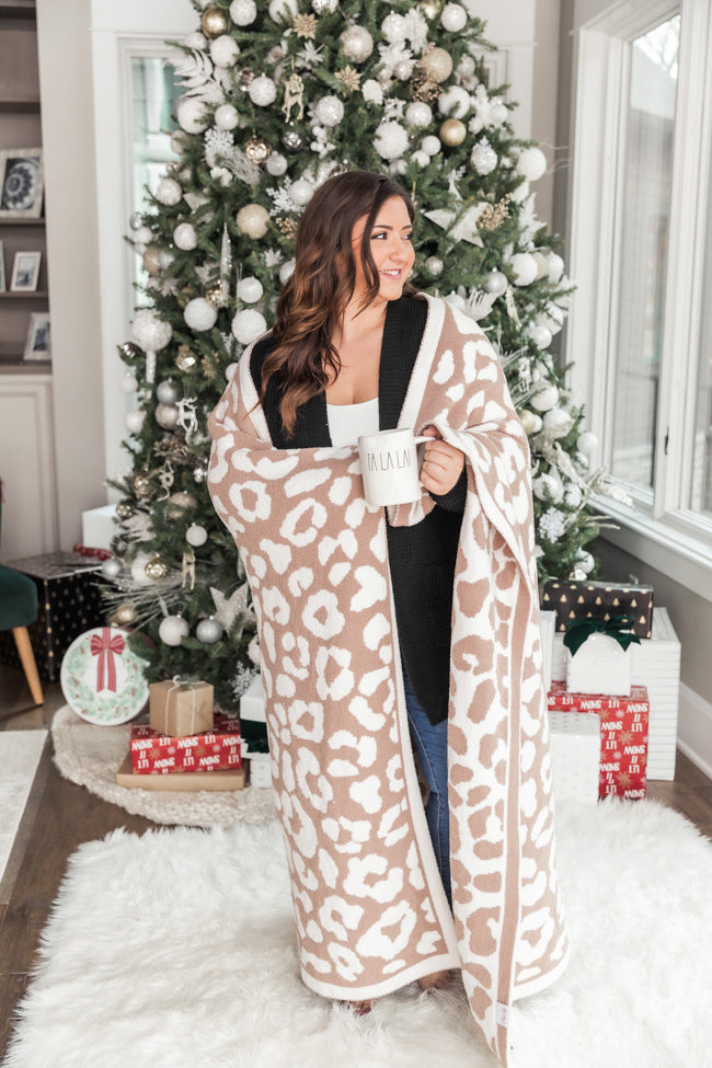 Keep You Warm Blanket Beige Animal Print