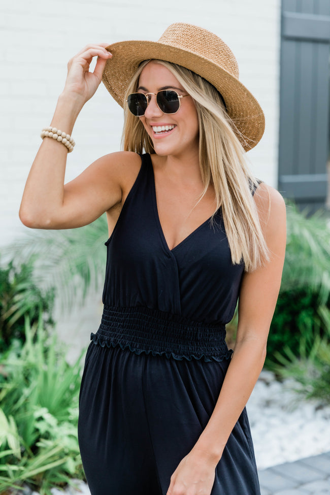 A Night Out Jumpsuit Black