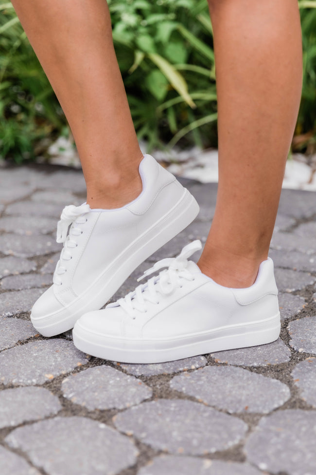 The Jenny Solid Sneakers White