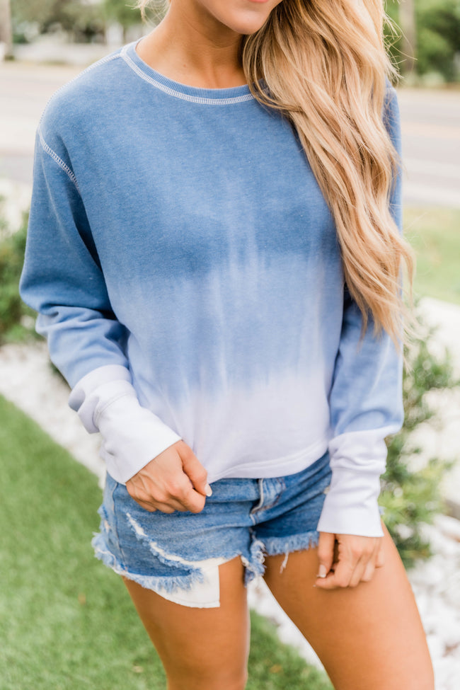 Count On You Tie Dye Pullover Blue
