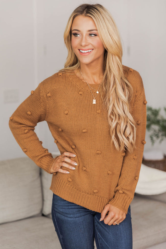 What You Seek Brown Sweater