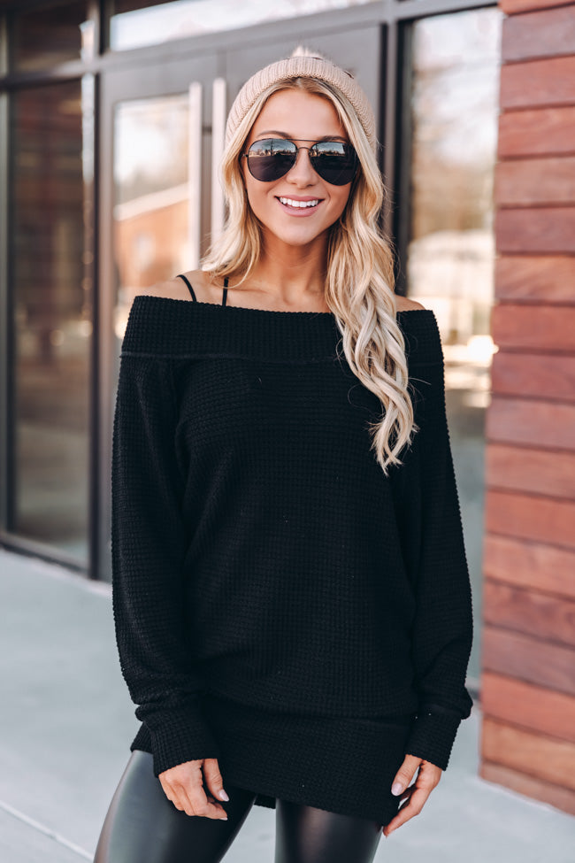 Leave It All Behind Black Pullover