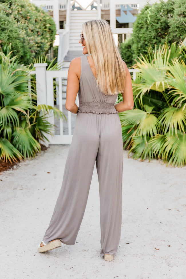 A Night Out Jumpsuit Taupe
