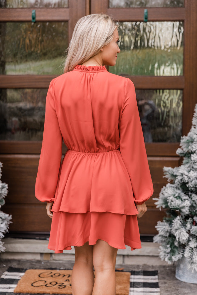 Layered With Happiness Rust Dress CLEARANCE