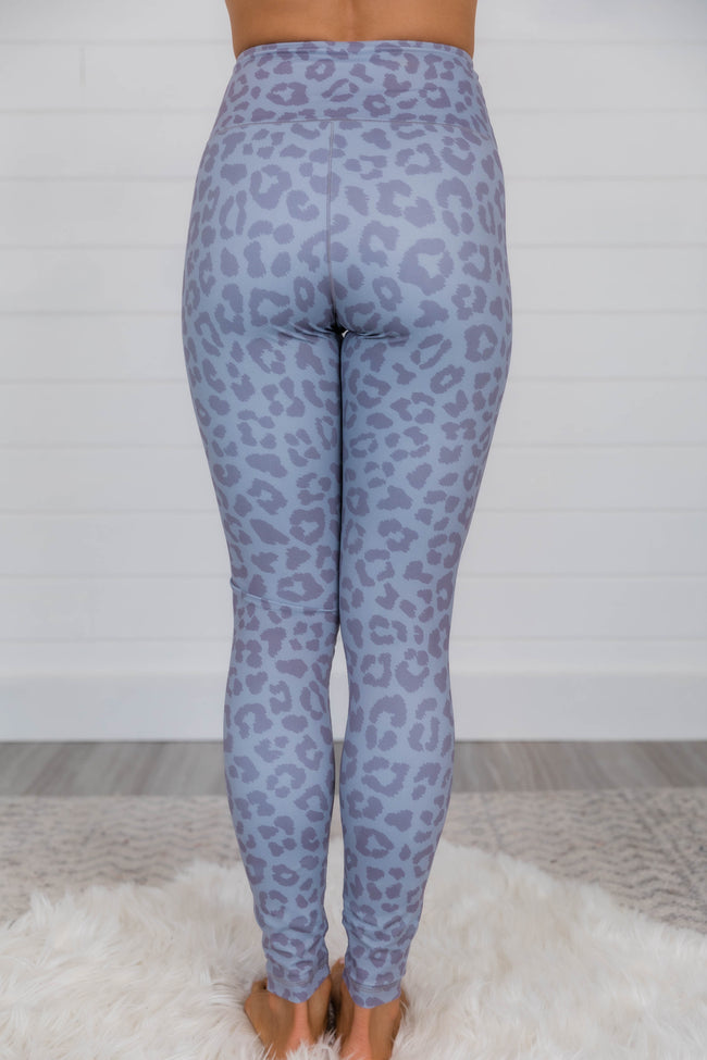 Run To You Animal Print Grey Leggings
