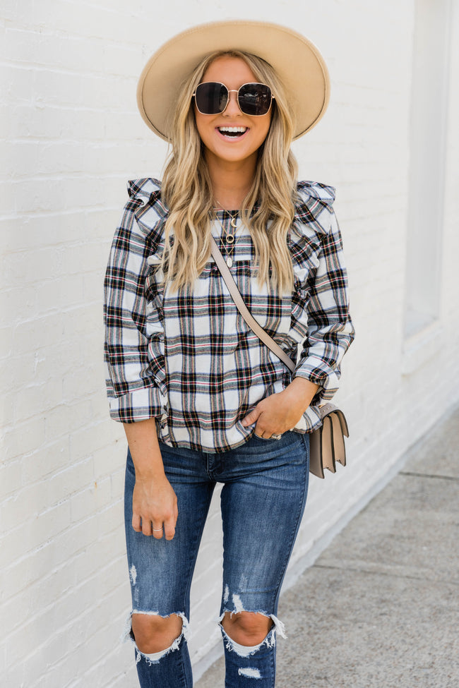LIVING MY BEST STYLE X PINK LILY The Texas Plaid Blouse