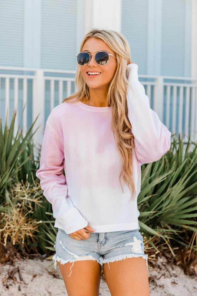 Count On You Tie Dye Pullover Pink