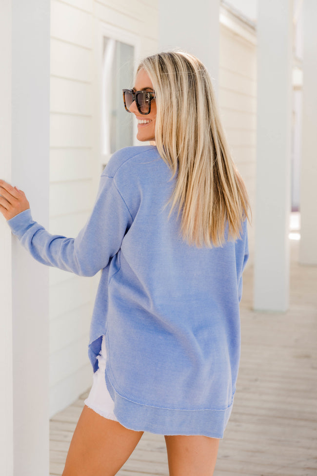 Simple Days Crewneck Periwinkle
