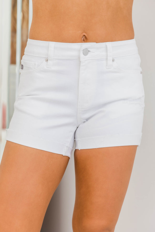 Irreplaceable Love Denim Shorts White