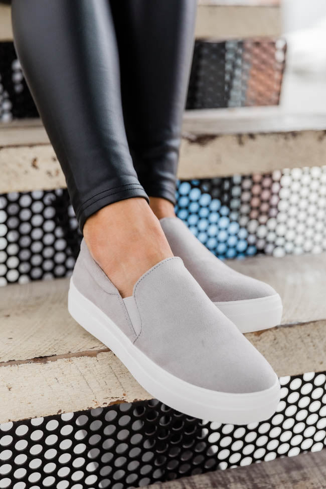 The Abigail Grey Sneakers