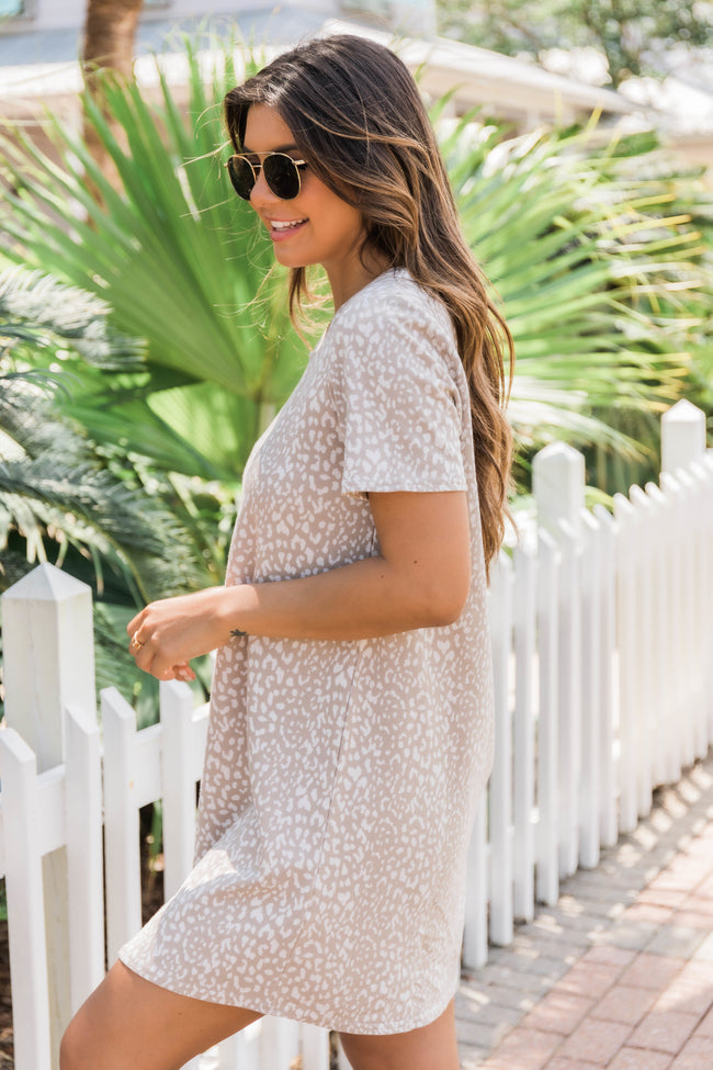Natural Beauty Animal Print T-Shirt Dress