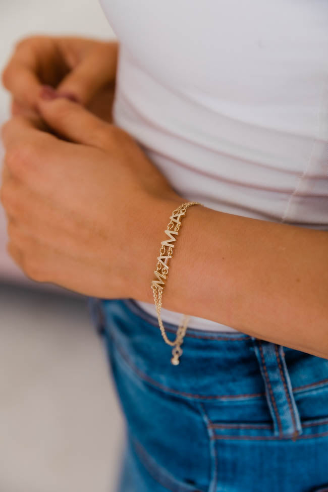 Express Yourself Gold Mama Bracelet
