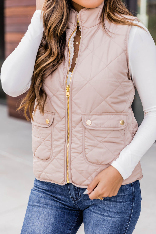 Always Finding You Camel Reversible Vest