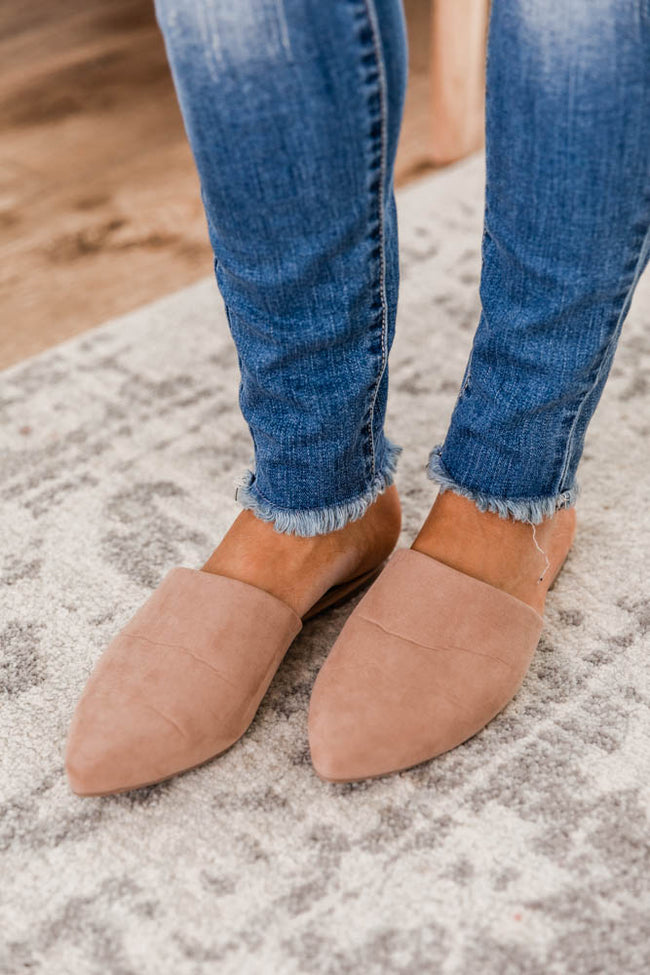 The Emma Suede Mules Warm Taupe