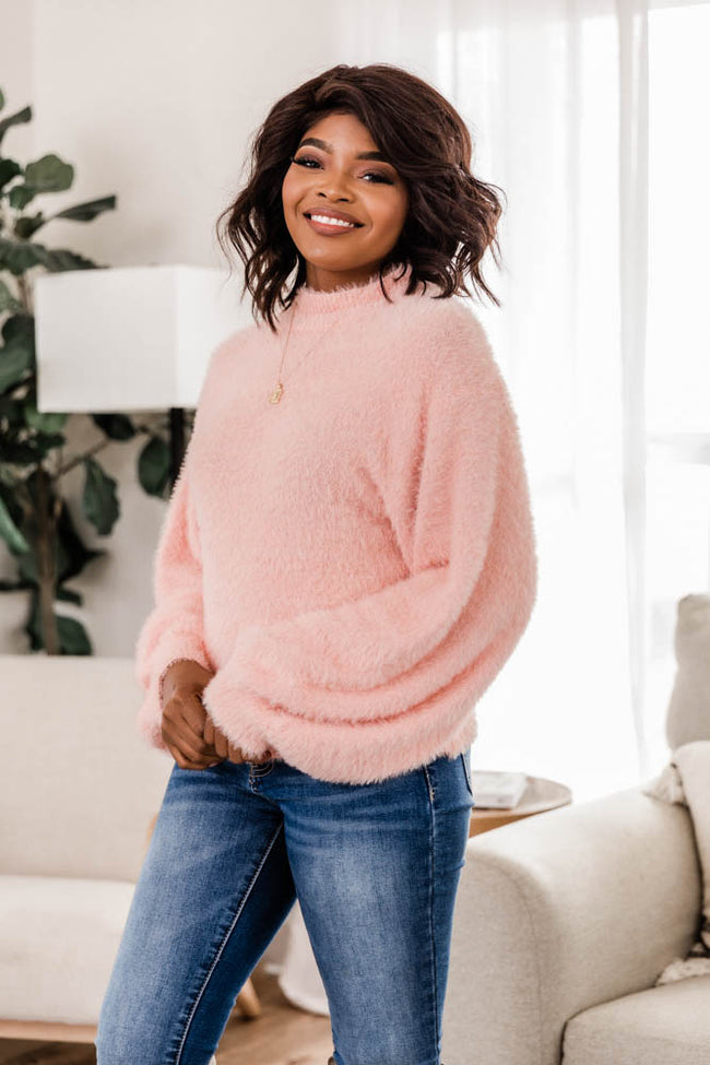 Share A Memory Fuzzy Blush Sweater