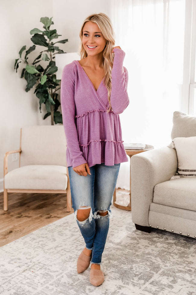 Thinking Out Loud Berry Pullover