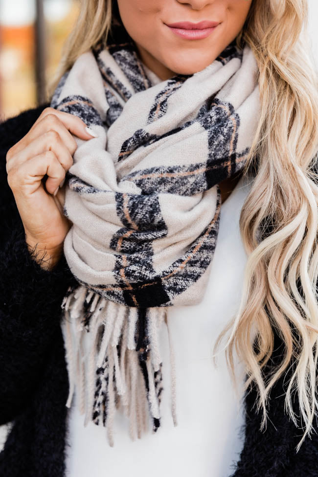 Discover Your Passion Plaid Ivory Scarf FINAL SALE