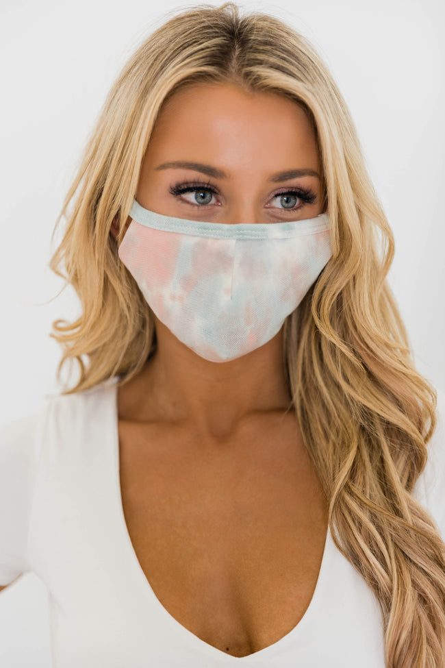 Splendid Grace Tie Dye Peach Mask