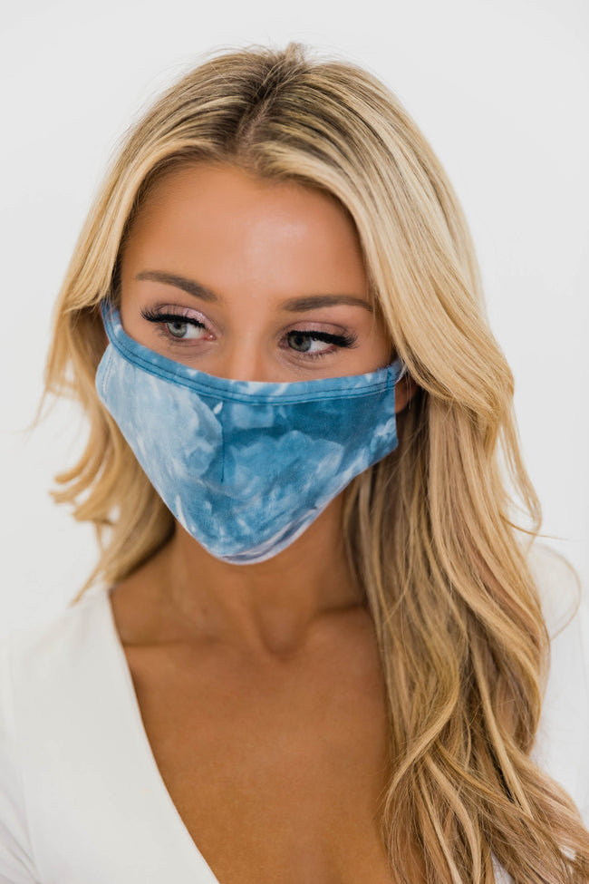 Splendid Grace Tie Dye Blue Mask