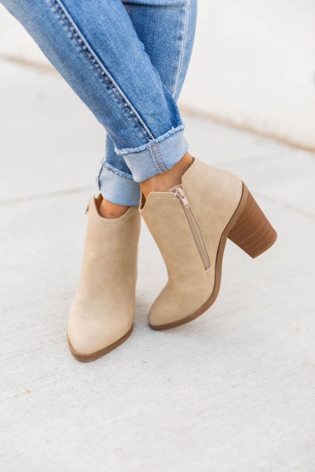 Mallory Taupe Booties