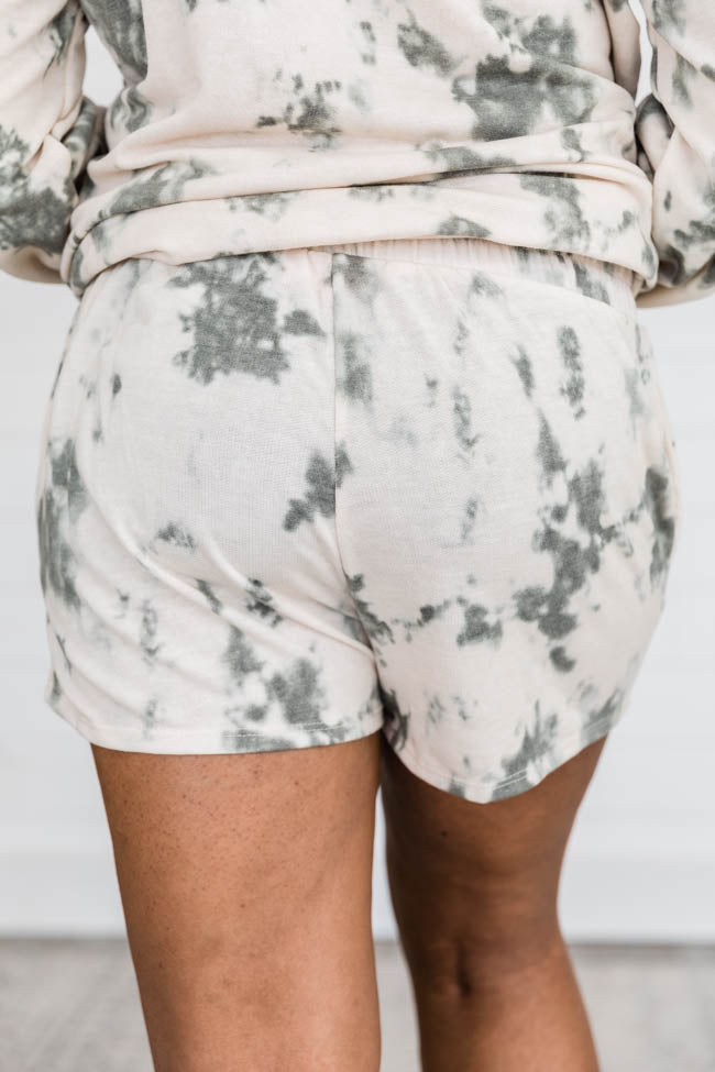 Repeat The Past Tie Dye Olive Shorts
