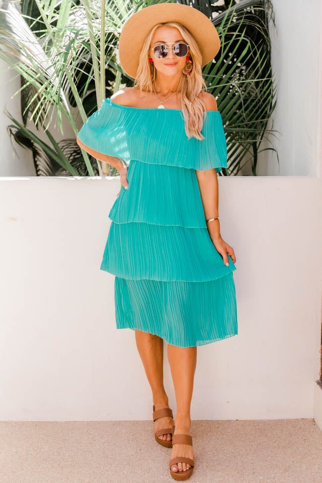 Pleat And Thank You Midi Teal