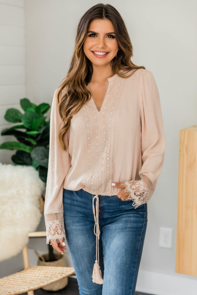 Magic In My Heart Beige Blouse