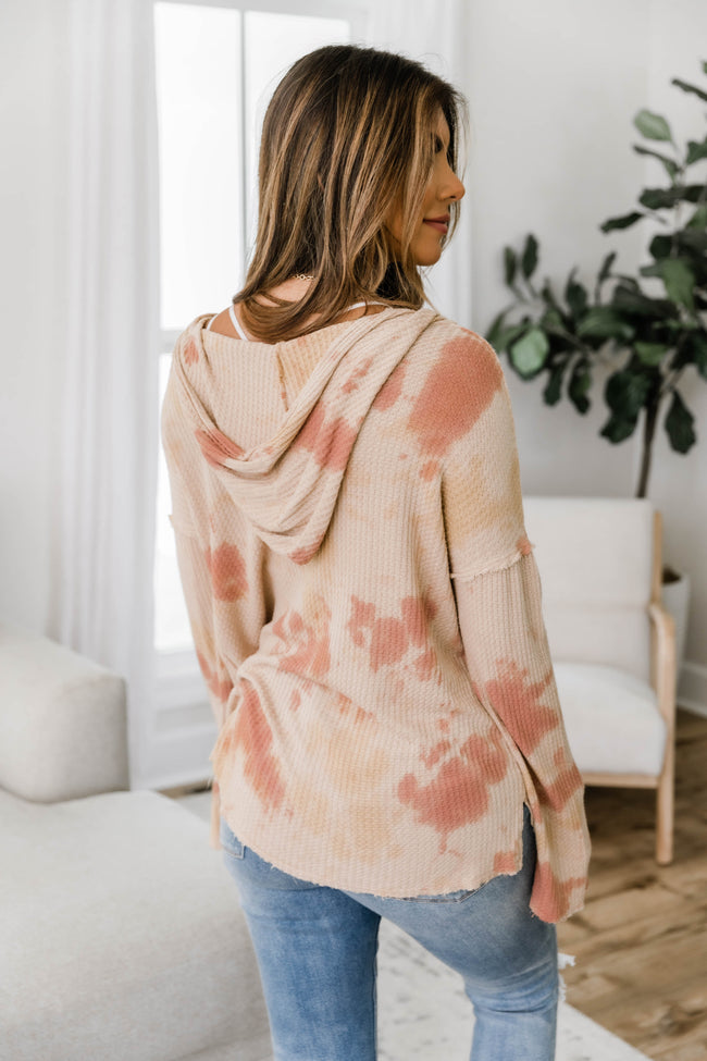 Live Out A Dream Tie Dye Beige/Rust Pullover FINAL SALE