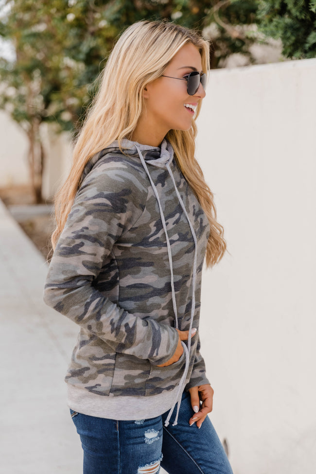That's Who We Are Camo Print Hoodie