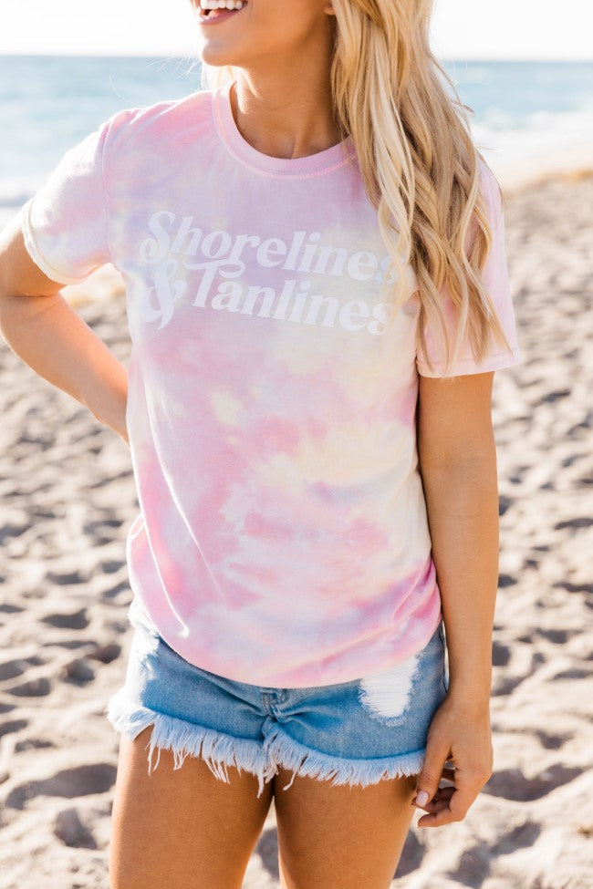 Shorelines And Tanlines Tie Dye Graphic Tee