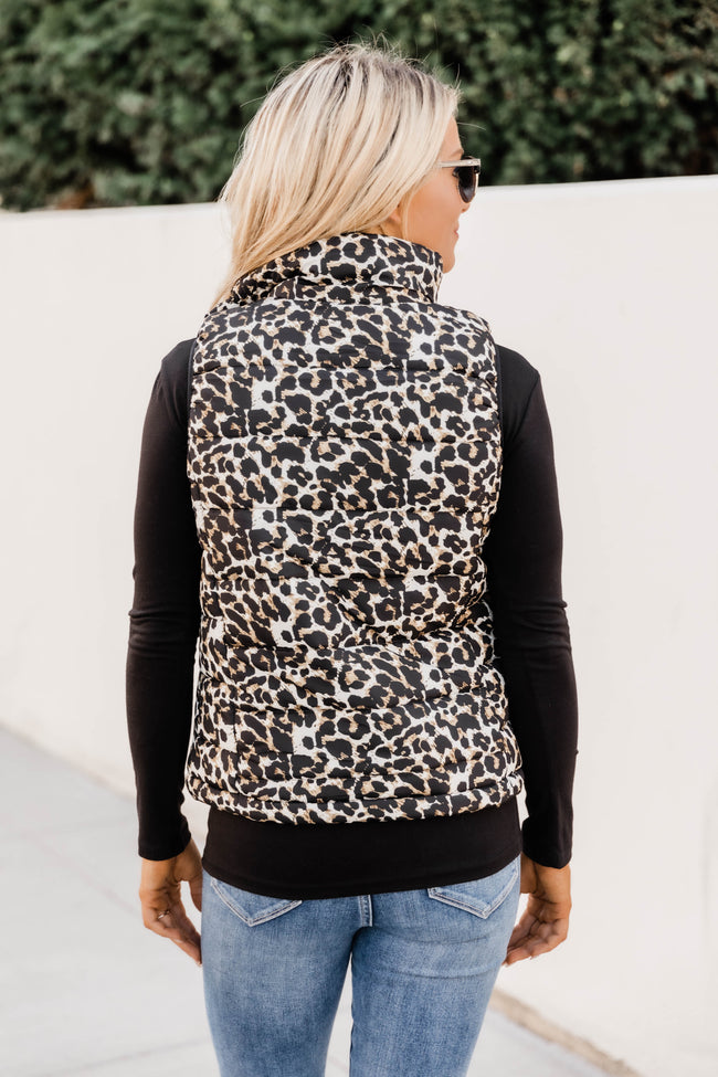 Won't Miss My Chance Animal Print Puffer Vest