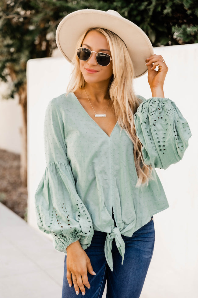 What I'm Feeling Sage Blouse