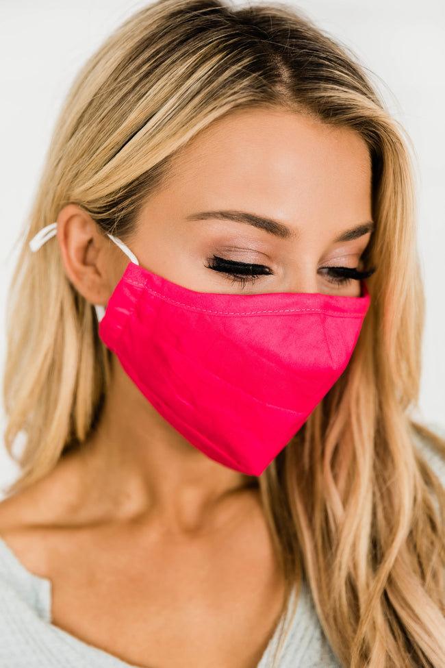 Effortless Style Pink Face Mask