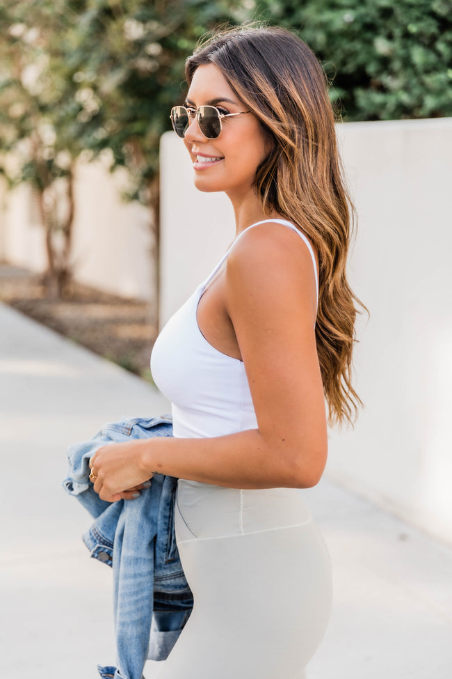 Let's Seize The Day White Bra Top